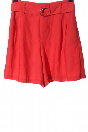 Reserved High waist short rood casual uitstraling
