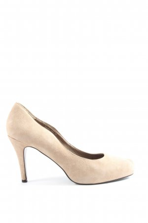Reserved Hochfront-Pumps creme Casual-Look