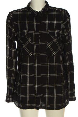 Reserved Chemise de bûcheron noir-blanc motif à carreaux style décontracté