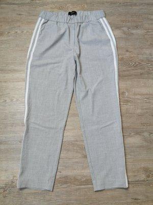 Reserved Hose 7/8 Länge stoffhose High Waist 36 hellgrau weiß Streifen