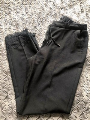 Reserved Hose schwarz mit Spitze, Stretchbund Gr. 40