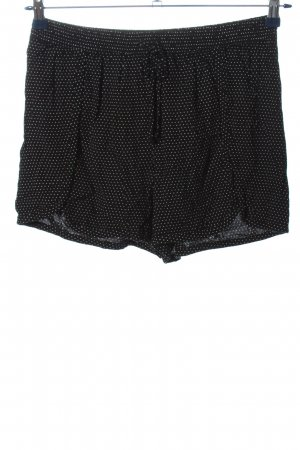 Reserved Hot Pants schwarz-weiß Punktemuster Casual-Look