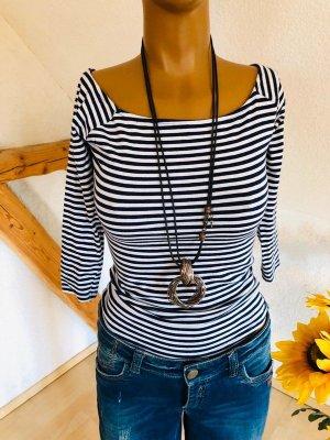 Reserved Stripe Shirt white-dark blue