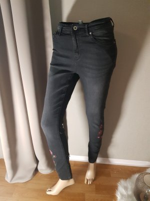 Reserved High Waist Jeans black cotton