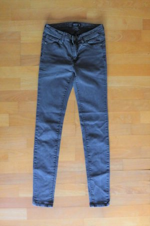 Reserved Jeans Skinny Röhre schmal dunkelgrau Stretch Gr. 34 XS