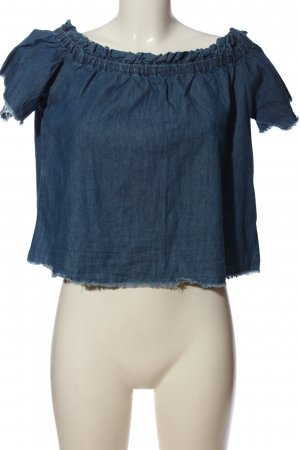 Reserved Jeansbluse blau Casual-Look