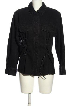 Reserved Chemise en jean noir style décontracté