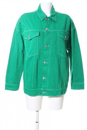 Reserved Denim Jacket green casual look