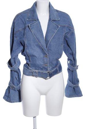 Reserved Jeansjacke blassblau Jeans-Optik
