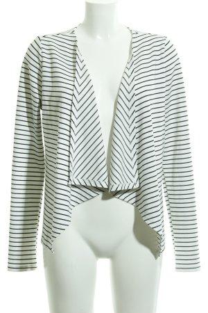 Reserved Jerseyblazer weiß-schwarz Ringelmuster Casual-Look