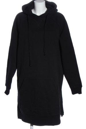 Reserved Felpa con cappuccio nero stile casual