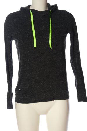 Reserved Hooded Sweatshirt black-green flecked casual look
