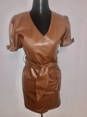 Reserved Kleid Leder Imitat Vintage Druckknöpfe