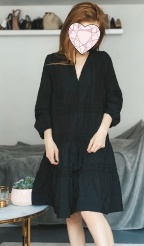 Reserved Babydoll Dress black