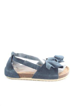 Reserved Sandalias cómodas azul look casual