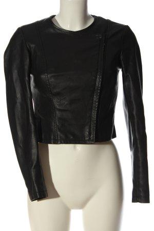 Reserved Kurtka z imitacji skóry czarny W stylu casual
