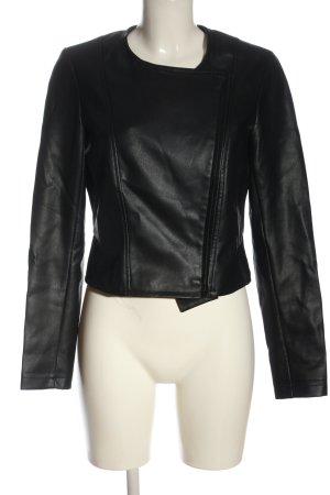 Reserved Chaqueta de cuero de imitación negro look casual