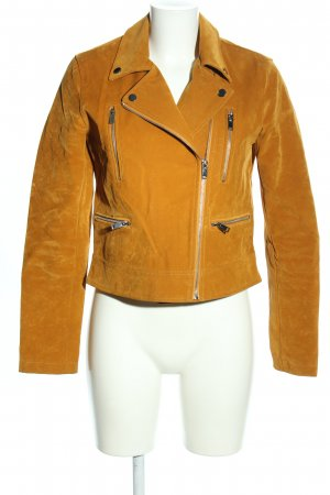 Reserved Faux Leather Jacket light orange casual look