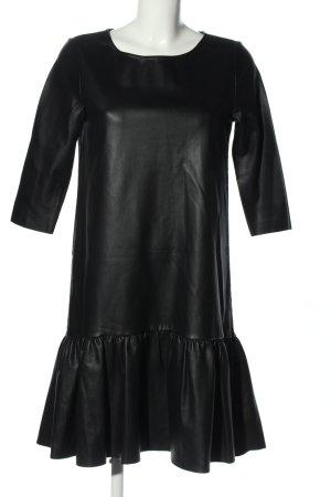 Reserved Kunstlederkleid schwarz Casual-Look
