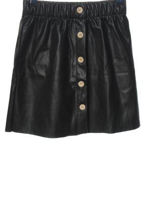 Reserved Rok van imitatieleder zwart casual uitstraling