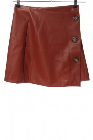 Reserved Faux Leather Skirt brown casual look