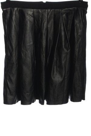 Reserved Spódnica z imitacji skóry czarny W stylu casual