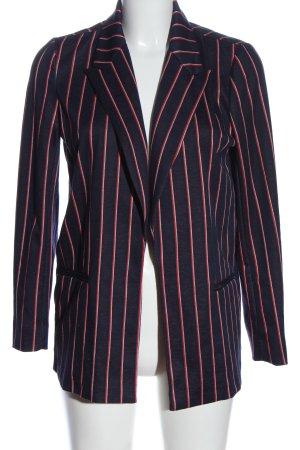 Reserved Long-Blazer blau-rot Allover-Druck Business-Look