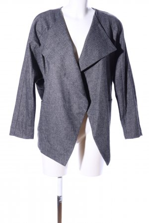 Reserved Kurz-Blazer hellgrau Webmuster Business-Look