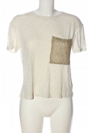 Reserved T-Shirt wollweiß-goldfarben meliert Casual-Look