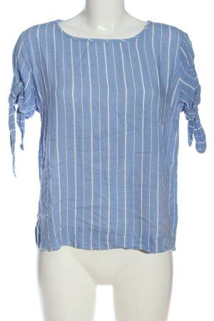 Reserved Kurzarm-Bluse blau-weiß Streifenmuster Casual-Look