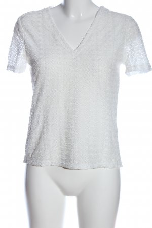 Reserved Kurzarm-Bluse weiß Casual-Look