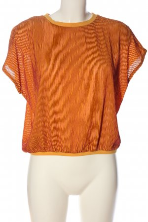Reserved Kurzarm-Bluse hellorange Streifenmuster Casual-Look