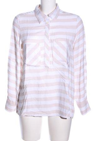 Reserved Camicia a maniche corte bianco-rosa motivo a righe stile casual