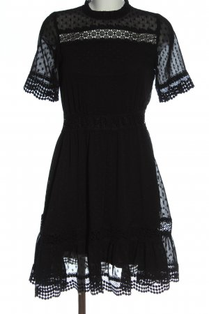 Reserved Kurzarmkleid schwarz Elegant