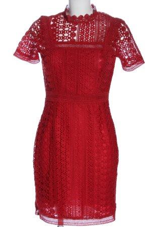 Reserved Kurzarmkleid rot Elegant