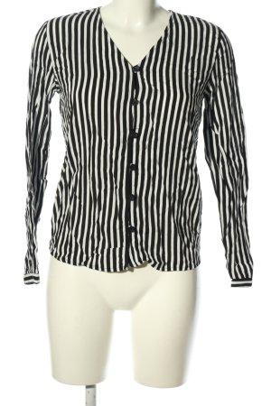 Reserved Langarm-Bluse schwarz-weiß Streifenmuster Casual-Look