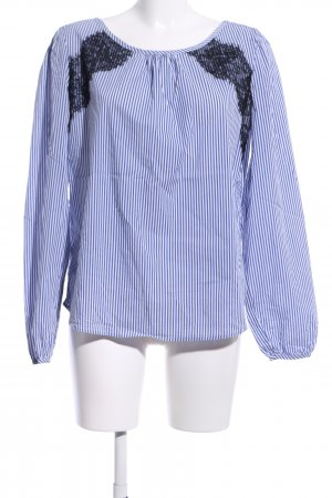 Reserved Langarm-Bluse Streifenmuster Casual-Look