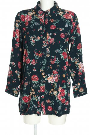 Reserved Langarm-Bluse Blumenmuster Casual-Look