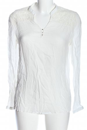 Reserved Langarm-Bluse wollweiß Casual-Look