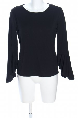 Reserved Langarm-Bluse schwarz Casual-Look