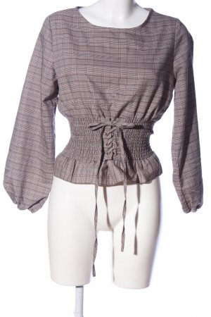 Reserved Langarm-Bluse Karomuster Casual-Look