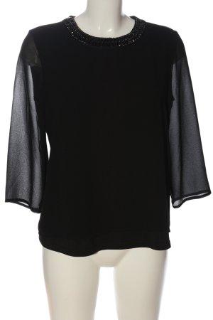 Reserved Langarm-Bluse schwarz Elegant