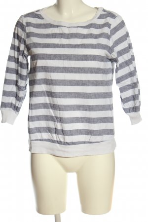 Reserved Langarm-Bluse hellgrau-weiß Streifenmuster Casual-Look