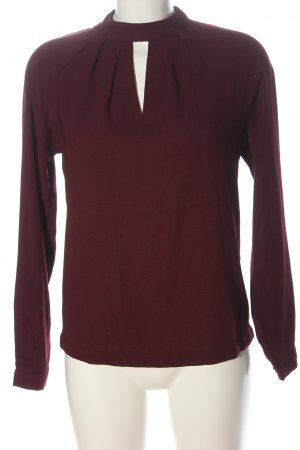 Reserved Langarm-Bluse rot meliert Casual-Look