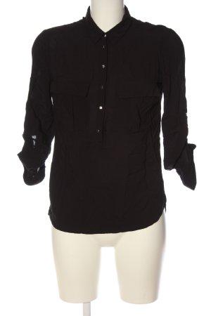 Reserved Langarm-Bluse schwarz Business-Look