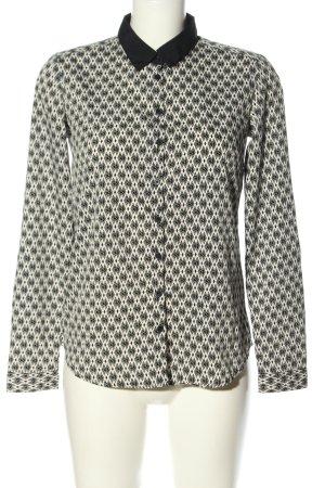 Reserved Langarm-Bluse schwarz-weiß Allover-Druck Casual-Look