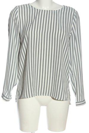 Reserved Langarm-Bluse weiß-schwarz Allover-Druck Casual-Look
