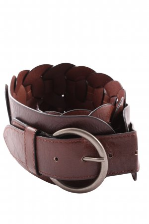 Reserved Faux Leather Belt brown casual look
