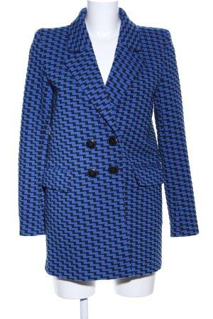 Reserved Long-Blazer blau-schwarz grafisches Muster Business-Look