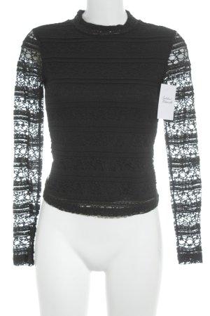 Reserved Longshirt schwarz Street-Fashion-Look